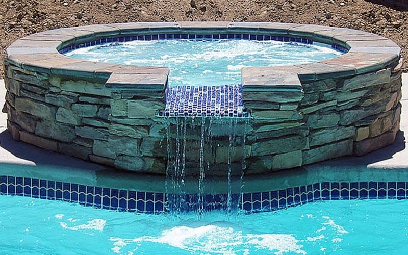 Alaglas Pools Aruba fiberglass spa in white