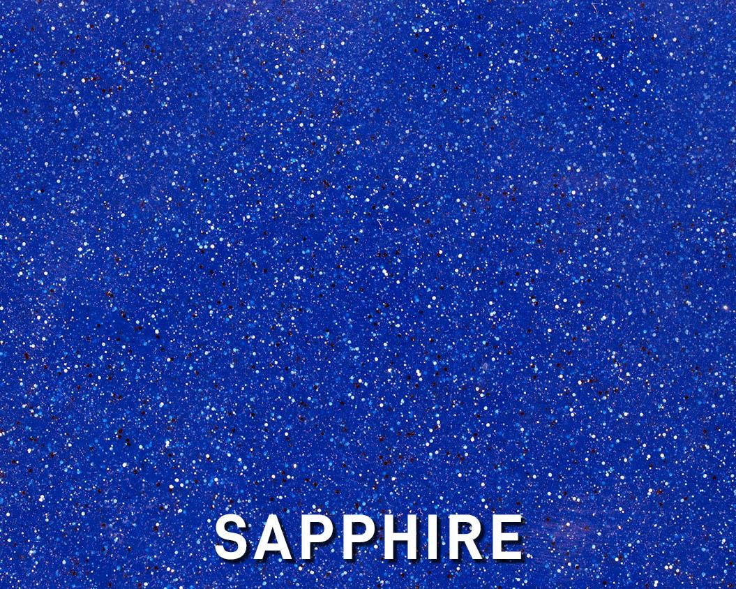 Alaglas Pools' Sapphire, a dark blue fiberglass swimming pool color