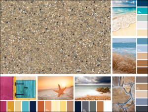 Alaglas Fiberglass Pools Topaz Gelcoat Color Inspiration Board