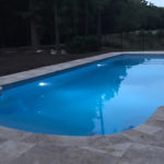 Alaglas Pools' Grand Majestic model, a large, rectangular shaped pool in quartz