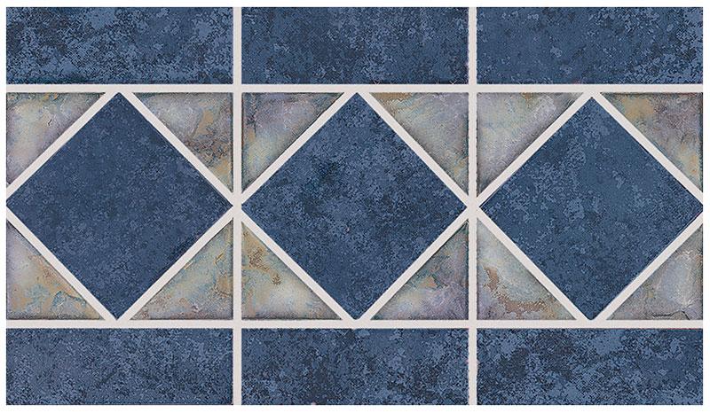 Dakota: Blueberry Border Tile by NPT