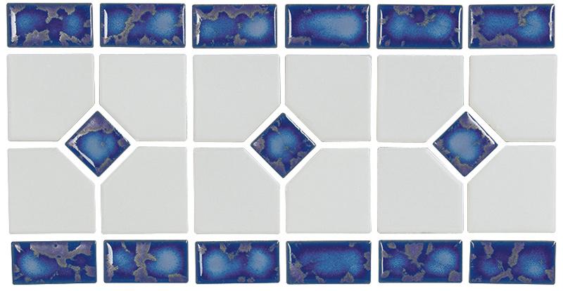 Grace: Blue Mosaic Border by NPT